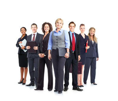 business coach with group